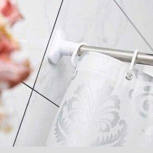 Image 3 - PEVA Stoff Dusche Vorhang mit Haken Wasserdichte Kunststoff Bad Bildschirme Geometrische Blumen Druck Umweltfreundliche Bad Vorhänge