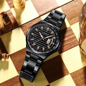 Image 3 - Men Luxury Brand Quartz Watch CURREN Stainless Steel Band Wristwatch Fashion Style Watch Man Auto Date Relogio Masculino