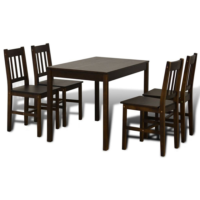 Wooden Dining Table with 4 Chairs 6