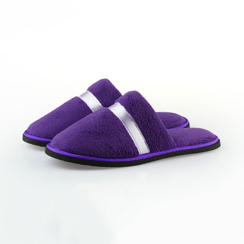 Women Hotel Travel Spa Disposable Coral Fleece Slippers Party Sanitary Home Guest Use Fluffy Closed Toe Men Disposable Slippers