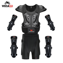 Wosawe オートバイ鎧ショートアダルトオフロードモトクロス保護ギア mtb 服ジャケットニーパッド elbowpads ショーツ