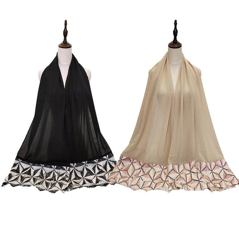 Sequin Abaya Maxi Hijab Scarf Turban Muslim Hijabs Foulard Femme Hoofddoek Moslima Abayas For Women Headscarf Turbantes Jilbab