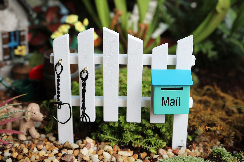 100Pcs Miniature Garden Fence Wooden Picket Fence Border Fairy Garden Decors