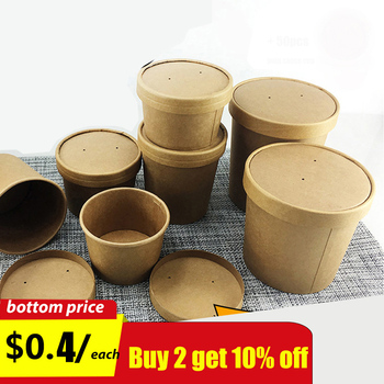 Disposable Kraft Paper Soup Cup Dessert Ice Cream Cake Soup Container Food Package Free Product 2 Oz Transparent Sauce Cup. soup page 2