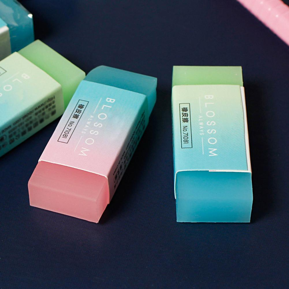 5Pcs Candy Jelly Colored Pencil Rubber Eraser Professional Erasers Soft Cube Office Cute School Student Flexible Durable N0E4