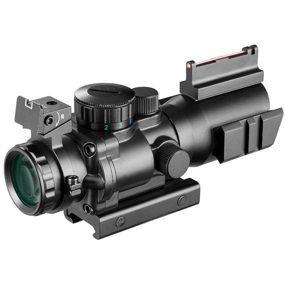 4x32 Acog Riflescope 20mm Milano óptica reflejo alcance táctico vista para la caza Rifle pistola Airsoft francotirador lupa