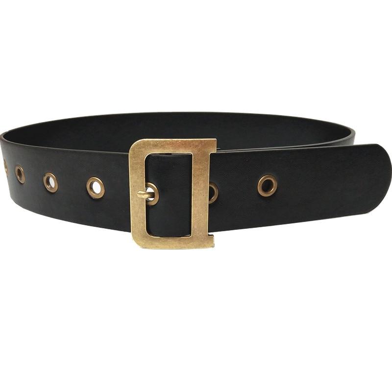 Double Ring Women Belt Fashion PU Leather Metal Buckle Heart Pin Belts For Women Ladies Leisure Dress Jeans Wild Waistband SW44