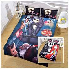 3Pcs 3D Frightened Bedding Set Twin/Full/Queen/King/ 172*218cm/200*229cm/228*228cm/259*229cm Duvet Cover Bedding Sets(China)