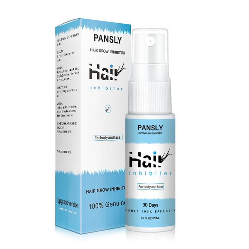 Pansly Hair Growth Inhibitor 20ml Women Hair Removal Spray Cream Painless Beard Legs Armpit Smooth Repair Hair Removal