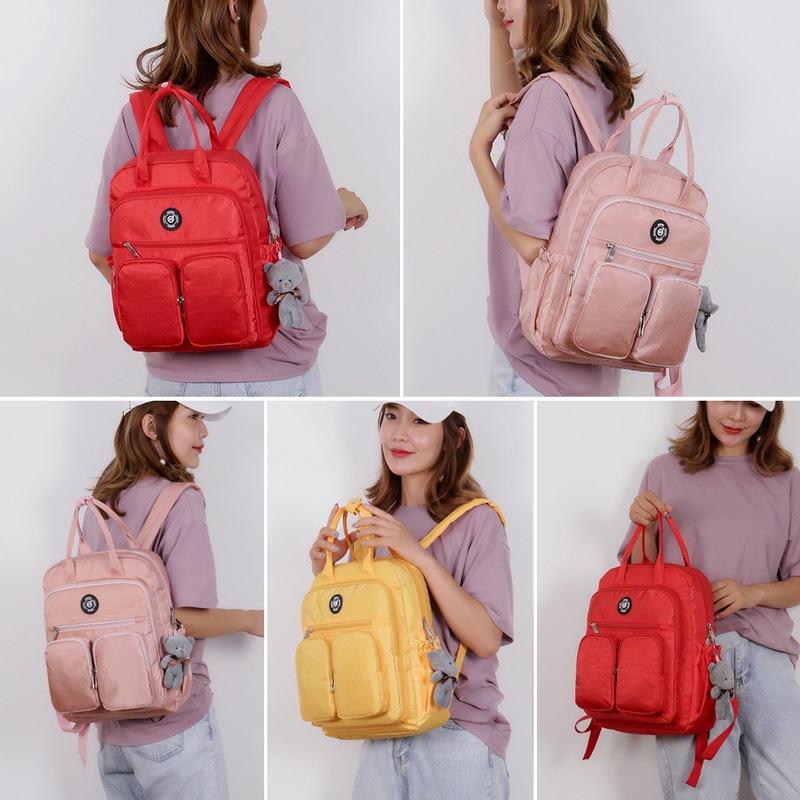 Hf863c05700d447cfb391d50126cdfd68u - New Waterproof Nylon Backpack for Women Multi Pocket Travel Backpacks Female School Bag for Teenage Girls Dropshipping