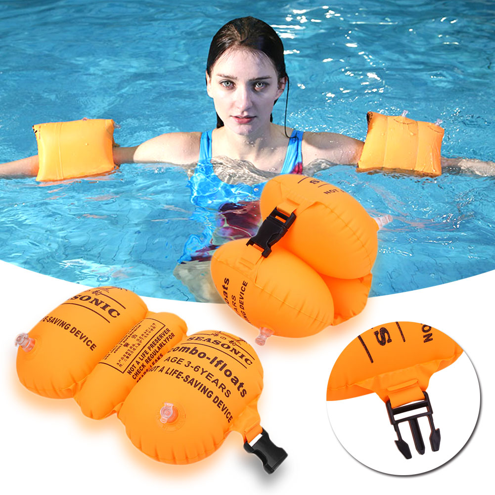 Swimming Rings Safety Children Band Inflatable Swimming Armband Swim Water Rings Inflatable Arm