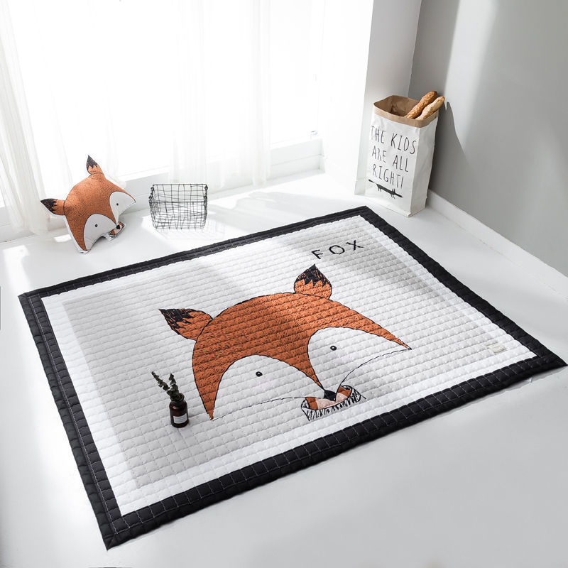 Cartoon Animal Baby Crawling Play Mat Living Baby Room Floor Mat Yoga Thick Carpet Children Toy High Quality Play Rug 145*195 Cm