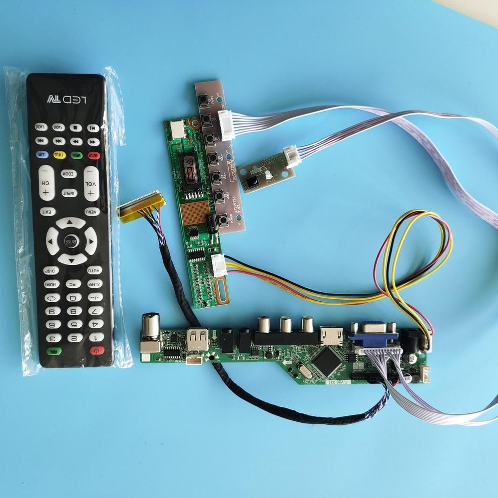 Dla CLAA154WA05/CLAA154WA05A 1280x800 płyta kontrolera Panel zdalny wyświetlacz LED AV TV sterownik HDMI LVDS zestaw VGA ekran USB 15.4