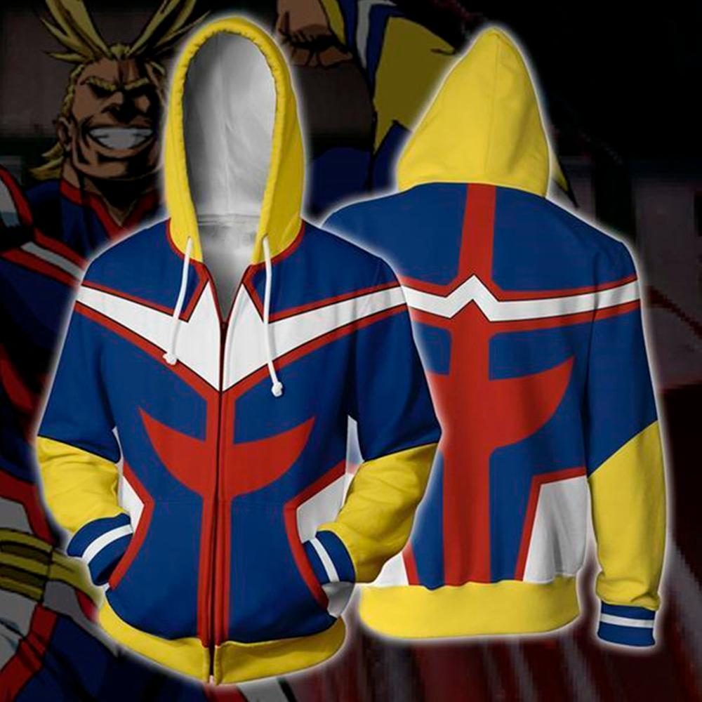 My Hero Academia Hoodie Izuku Midoriya Shoto Todoroki Boku No Hero Academia Cosplay Costume Sweatshirt All Might Zipper Jacket