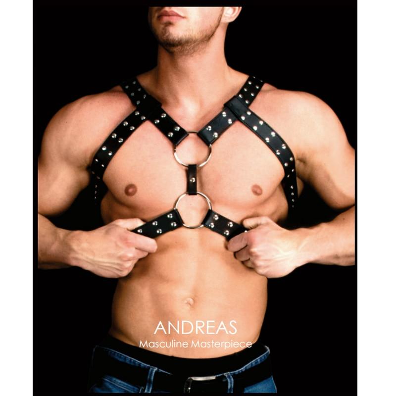 Top SaleUnderwear Vest Harness Bondage Black Sexy Tops Men's Flirting Gay-Man