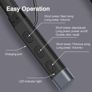 Image 5 - EARDECO skórzane słuchawki z pałąkiem na kark słuchawki Bluetooth słuchawki Stereo ciężki bas słuchawki bezprzewodowe Hifi wodoodporne słuchawki z Bluetooth