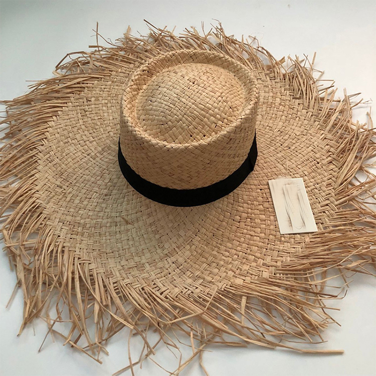 2020 Summer Fashion Floppy Straw Hats Casual Vacation Travel Wide Brimmed Sun Hats Foldable Beach Hats For Women With Big Heads