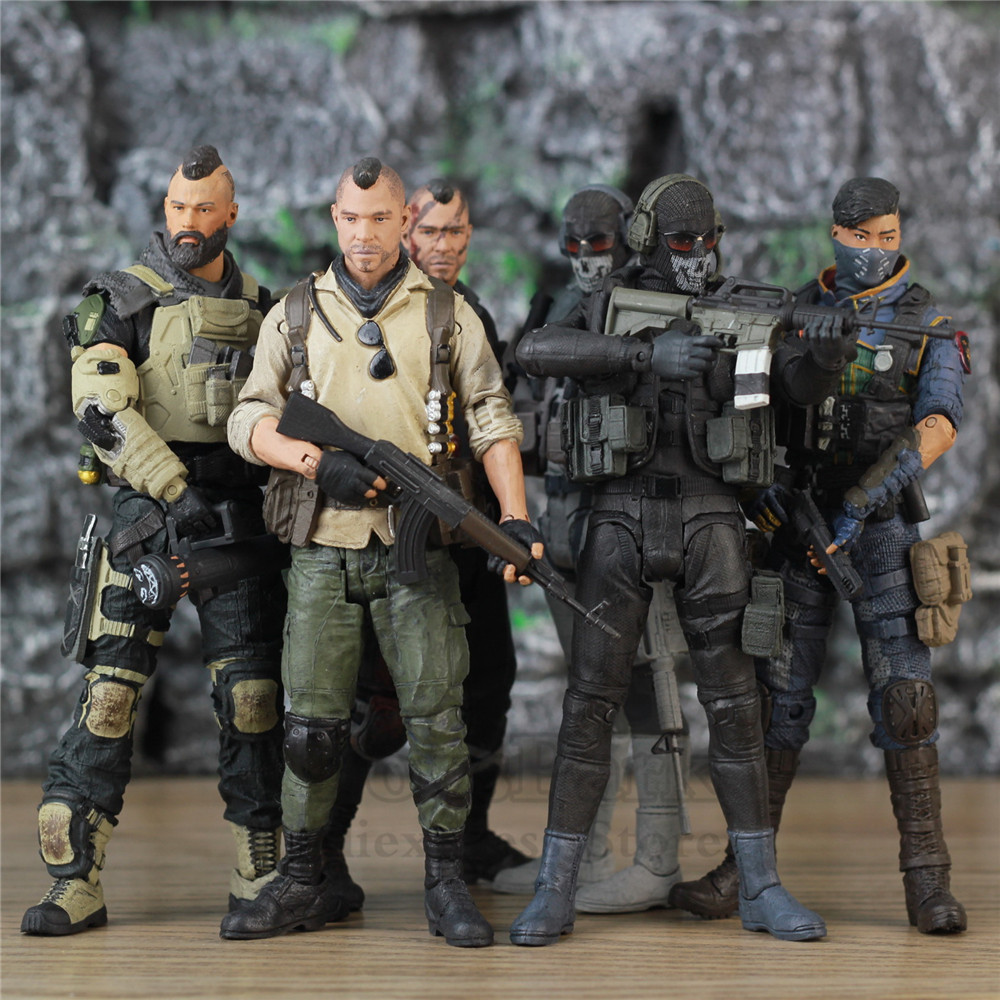 COD Call Duty Black Ops 4 PS4 Game SOAP GHOST SERAPH RUIN 7 Action Figure John Mactavish Simon Riley Variant McFarlane Doll Toy image