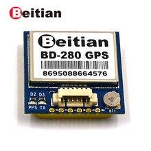 Beitian 1.25mm 6 pinos conector gps + beidou 4 m flash gps módulo 5.0 v 9600bps ttl 1 hz BD-280