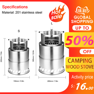 Bump Outdoor Camping Wood Stoves Furnace End Deconstructable Portable Picnic Stoves Cross Border Windproof Cooking Wood Burner