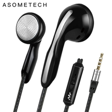 Hot Sale Earphone For Phone High Quality Sound Earphones With Microphone Wired headset 3 5mm audio earbuds For Iphone Samsung LG cheap ASOMETECH In-Ear Dynamic CN(Origin) 105±3dBdB None 1 2mm For Mobile Phone for Video Game Monitor Headphone Sport Common Headphone