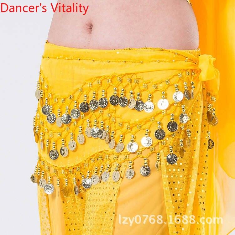 Hip Scarf Practice-Accessories Belly-Dance Adult Waist-Chain Coins Women Temperament