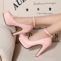 2020 New Autumn Woman Pumps Thick Heel Shoes Ol High heeled Shoes Female Black The Trend of Ultra High Heels Female Shoes U14 67