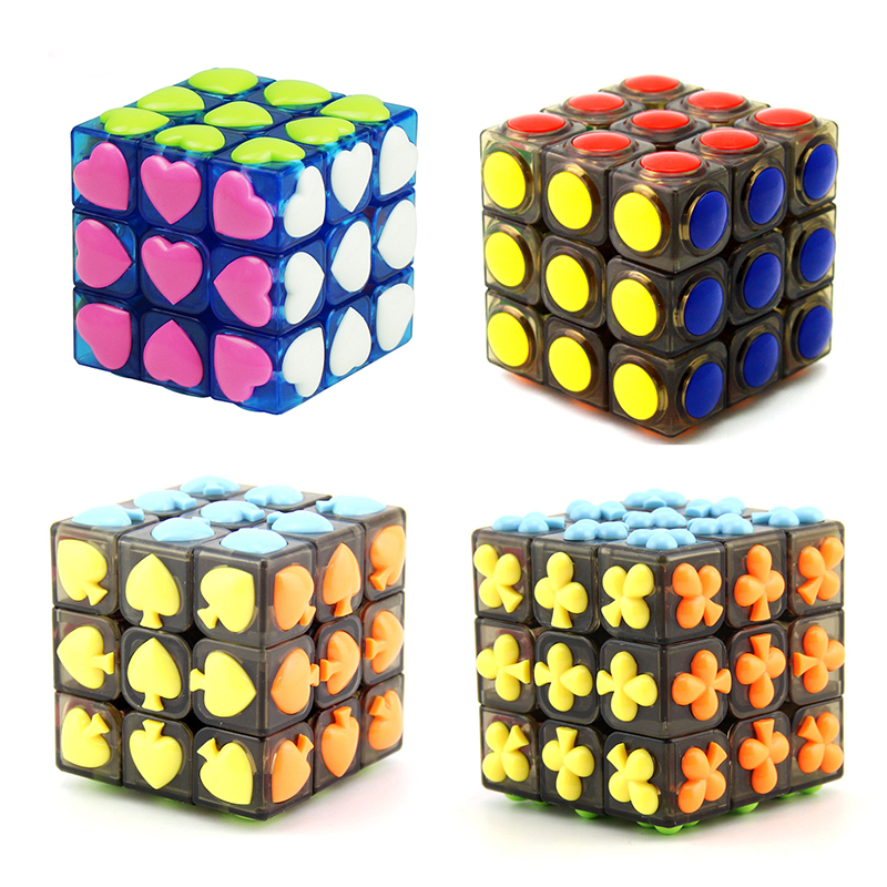 Professional Cube 3x3x3 5.7CM Speed For Magic Antistress Puzzle Neo Cubo Magico Sticker For Children Toys Wholesale