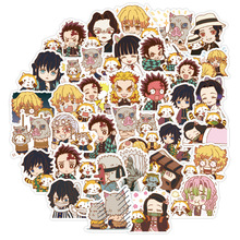 40Pcs Anime Demon Slayer Kimetsu No Yaiba Stickers 3-4 CM Cute Waterproof Graffiti Sticker