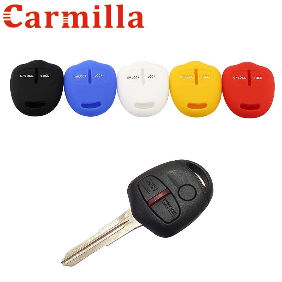 Carmilla Car Silicone Key Protective Cover Car Key Case Holder For Mitsubishi Outlander Colt LANCER Grandis Pajero Sport Parts