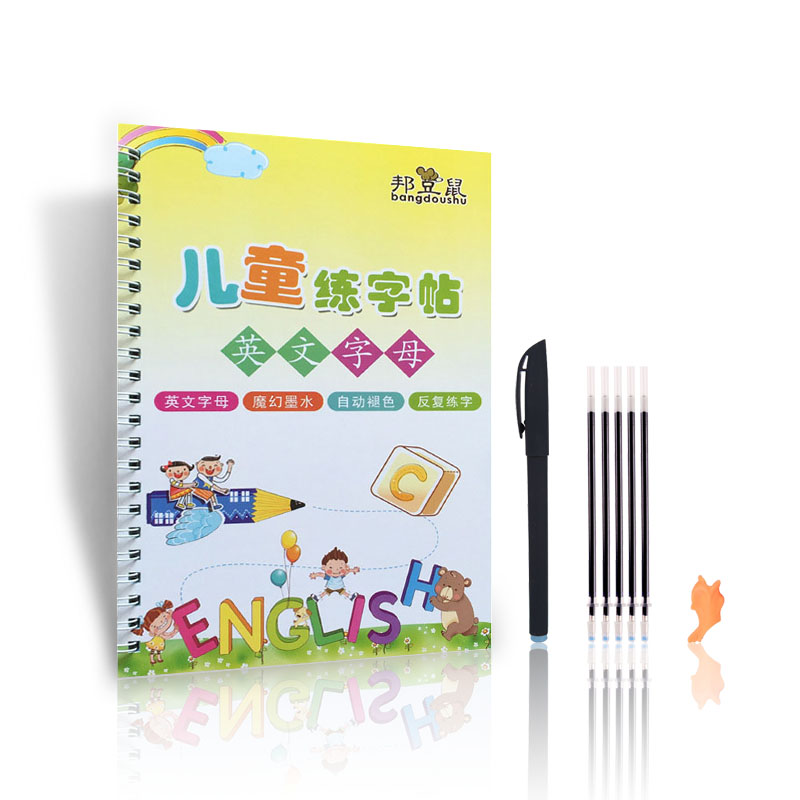 New 26 English letters Reusable Copybook For Calligraphy Learning English Handwriting ractice Book For kids School Students Book 2