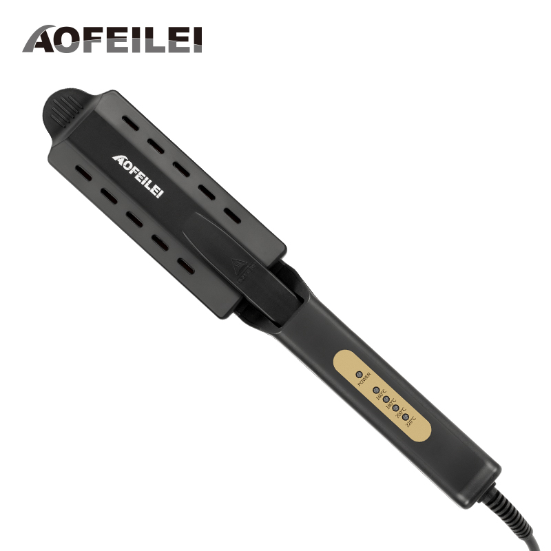 Professional Hair Straightener Four-gear Fast Warm-up Ceramic Tourmaline Hair Straightening Iron Steamer Hair Styling Tool