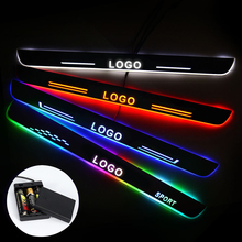 Ultra ince akrilik LED kapı eşiği mercedes benz X205 2015 2020 Led hareketli kapı sürtme plakası yol ışık