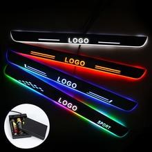 Ultrathin אקריליק LED דלת אדן עבור מרצדס בנץ GLC X205 2015 2020 Led נע דלת שפשוף צלחת מסלול אור