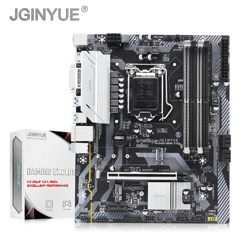 Материнская плата JGINYUE B460 LGA 1200 с поддержкой Intel Core I3 I5 I7 10-го процессора DDR4 RAM M.2 NVME WIFI B460M SATA 3,0 GAMING PLUS