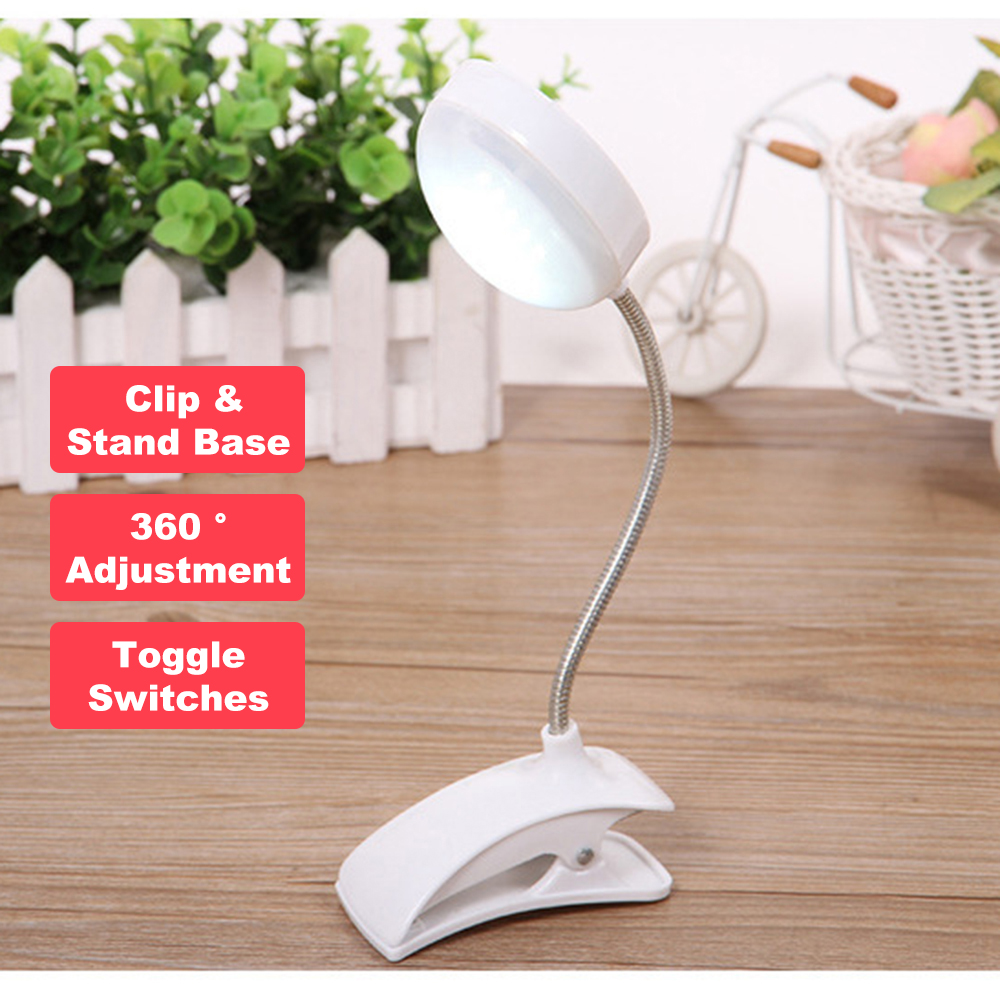 KINGSHAN Flexo LED Table Lamp Clip Desk Lamp LED Clamp Reading Study Bed Laptop Desk Bright Light Drafting Table Lamp Portable