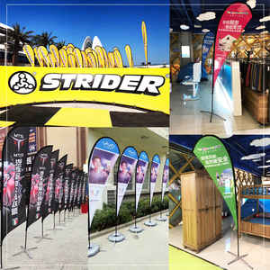 custom Feather Flag Beach Flags And Banners Graphic Custom Printing Free design Graphic sport advertising club company logo(China)