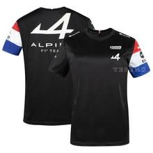 T-Shirt à manches courtes pour voitures de course, maillot respirant, bleu,noir, polo