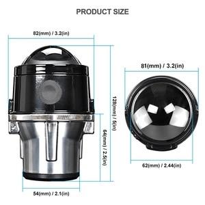 Image 5 - 金属2.5インチバイキセノンhid自動車スタイリングフォグライトプロジェクターレンズhi/loユニバーサルランプ車レトロフィットH11 hid led電球