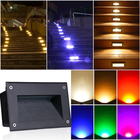 passo luz ip67 aluminio embutido escada lampada