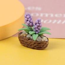 1:12 миниатюрный гиацинт в горшке для кукольного домика модель