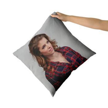 Anna Kendrick algodón lona almohada personalizada fundas de almohada de tiro fundas de almohada sofá almohada