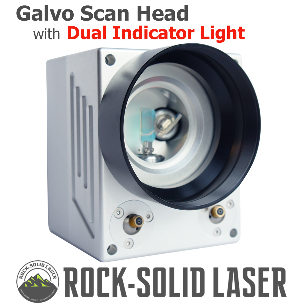 Fiber Laser Galvo Scan Head With Dual Red Indicator Light 1064nm Laser Marking Machine Parts With Power Supply Set