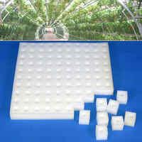 2pcs White Seedling Sponge Soilless Hydroponic Vegetables Nursery Pots Seedlings Cloning Collar Garden Cultivation Plant
