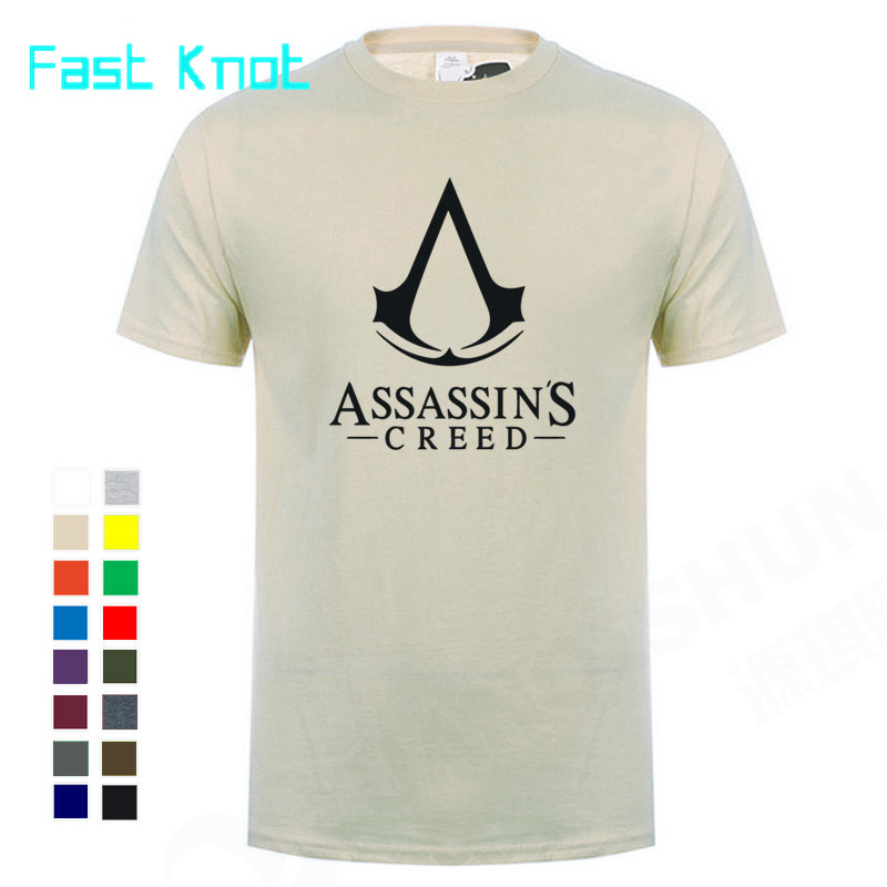 Boutique Men T-shirt 2018 Summer Hot Cool Game Assasins Creed Unity Printed Tops Tees 100% Cotton Casual O-Neck T Shirt Cosplay image