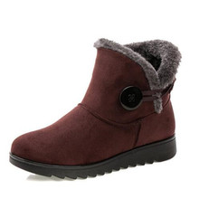 Dropshipping  New winter womens snow boots large size mother shoes cotton warm ankle for women