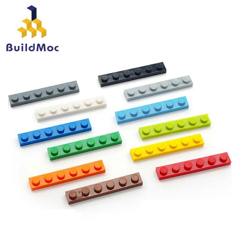 Bloques de construcción de figuras finas para niños, 100 uds, 1x6 puntos, 12 colores, educativo, creativo, tamaño Compatible con lego, Juguetes