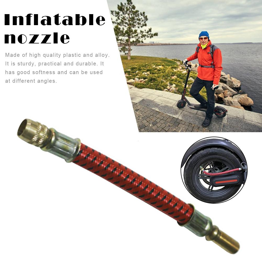 1PCS Scooter Pumps Inflate Pump Hose Adapter Extension Inflatable Nozzle For Xiaomi M365 Electric Scooter Inflatable Accessories