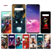 Avengers Endgame Tony Stark Iron Man Black TPU Case Cover For Samsung Galaxy Note 8 9 10 10+ S8 S9 S10e Plus 5G A30 A50 A70 A30s(China)