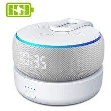 GGMM D3ฐานแบตเตอรี่สำหรับAmazon Alexa Echo Dot 3rd GenลำโพงAlexaผู้ถือMountสำหรับEcho Dot 3 8ชั่วโมง
